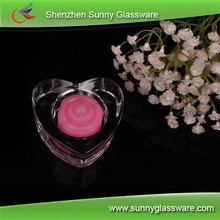 Heart shape glass votive candle holders