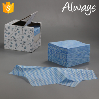 Japanese style disposable wave printing household wipes Clean paper OEM in China