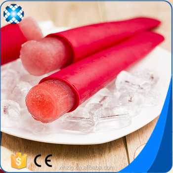 DIy ice pop BPA free silicone ice pop mold with FDA approval