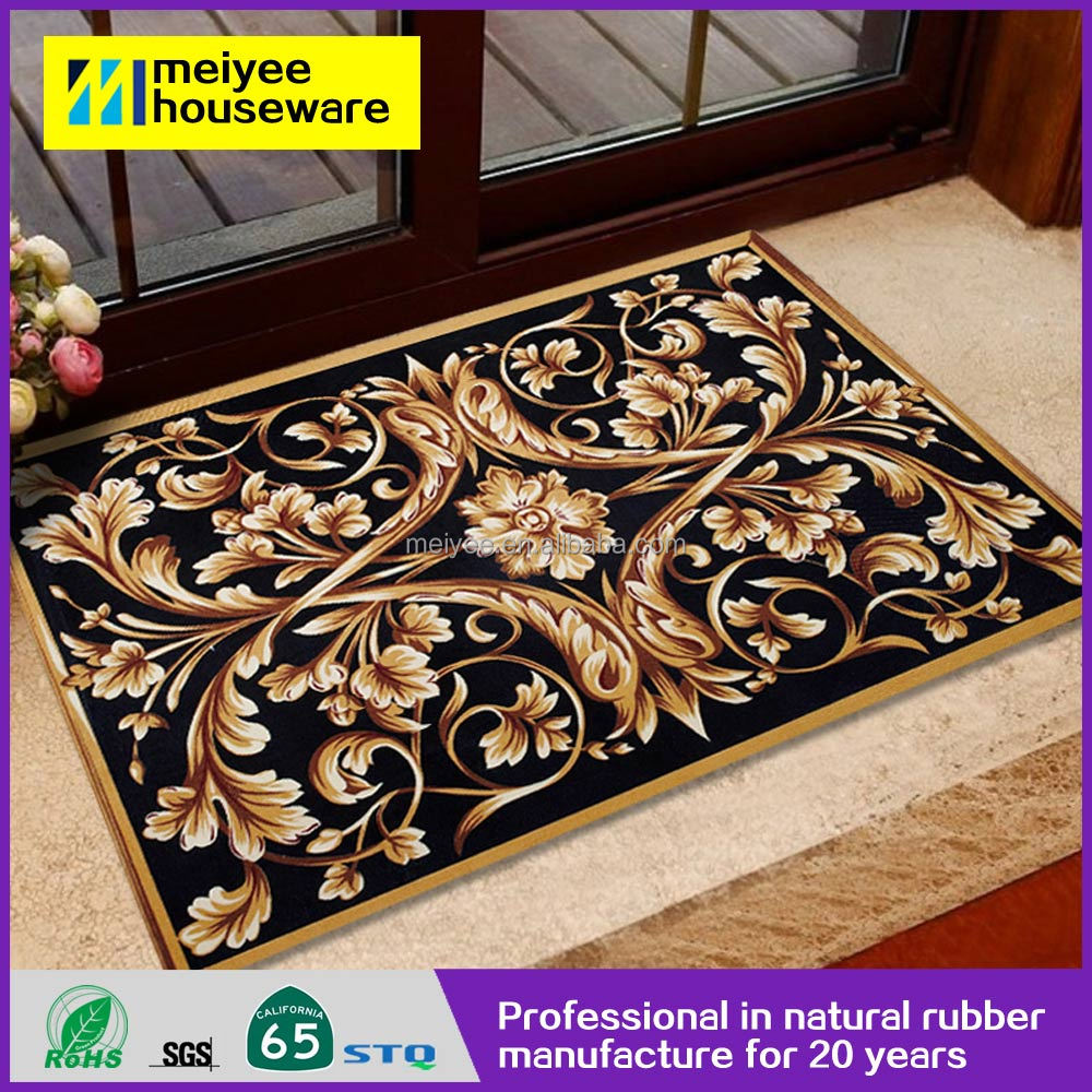 Custom Print Living Room Non Slip Fireproof Rubber Cartoon Logo Floor Mat Manufacturer With Low Price