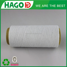 open end regenerated cotton polyester bleach white color yarn yarn waste wool