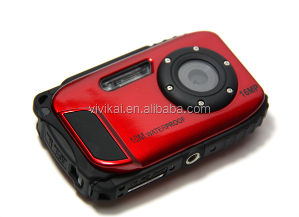 "High quality HD digital camera ,waterproof camera 10M underwater with 2.7 "" display camera"