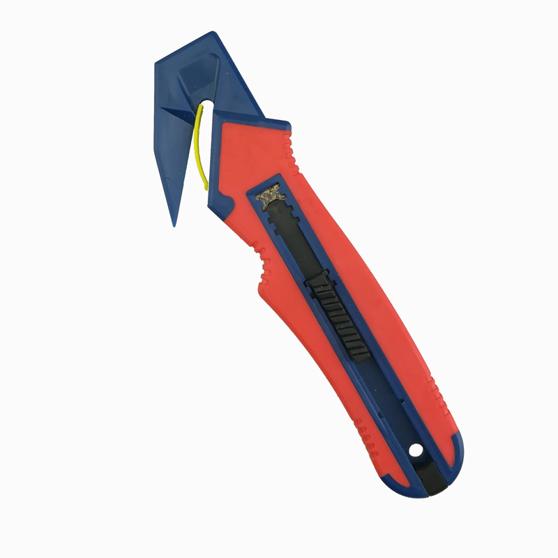 Safety Push Button Double Color Safety Box Cutter