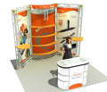 modular truss exhibition booth design, cheap portable booth display for exhibition