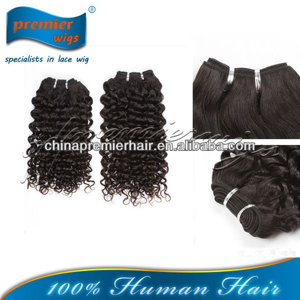 Factory Raw Unprocessed 7a Natural Colour Curly Virgin Indian Band Hair Talk Extensions