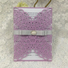 Magic purple wedding invitations & laser cut wedding invitations card