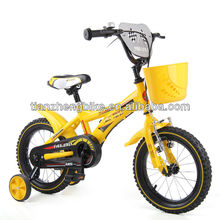 2014 TZ brand yellow colour steel frame TIG welding children bike/kids bicycle 12inch mini wheel baby toys hotsale products