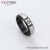 R-109 xuping ladies stainless steel black rings jewelry factory direct sale women rings