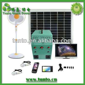 35W/18AH AC generation solar energy home system for home use