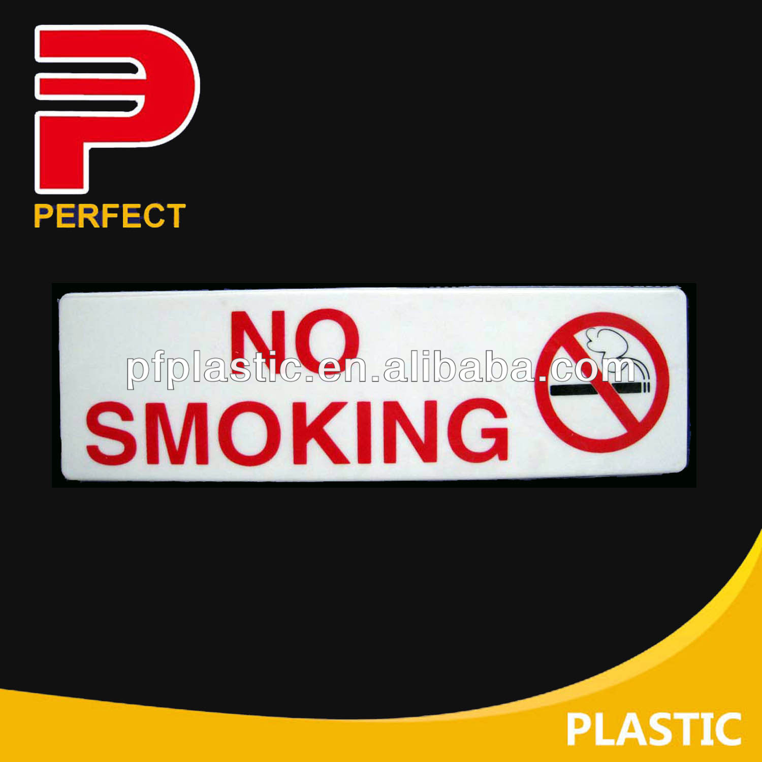 no smoking adhesive plastic sign board