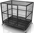 Cheap Black Power Coated Outdoor Large Dog Fence