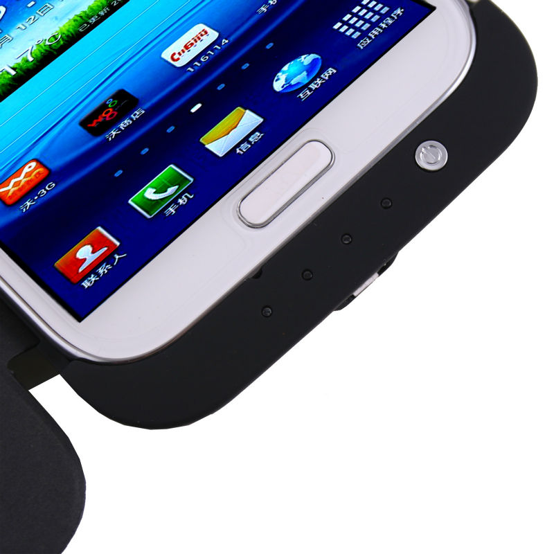 Portable 4200mAh Backup Battery With Kick-up Stand For Samsung Galaxy Note2 Note II N7100