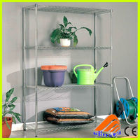 Wire storage rack,standing flower pot rack,NSF Epoxy Commercial Shelving