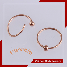Wholesale PVD Nose Gold nose hoop Ring Body Piercing Jewelry