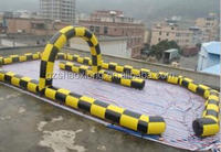 Free shipping inflatable car race track from China manufacturer