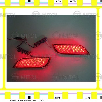 For SUBARU XV 11~on LED REAR BUMPER REFLECTOR LIGHT-RED