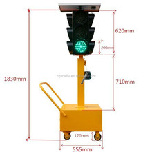 Roadway Safety Four Sides Solar mobile Traffic Signals, Arrow Tubes Portable Temporary Solar LED Traffic Light