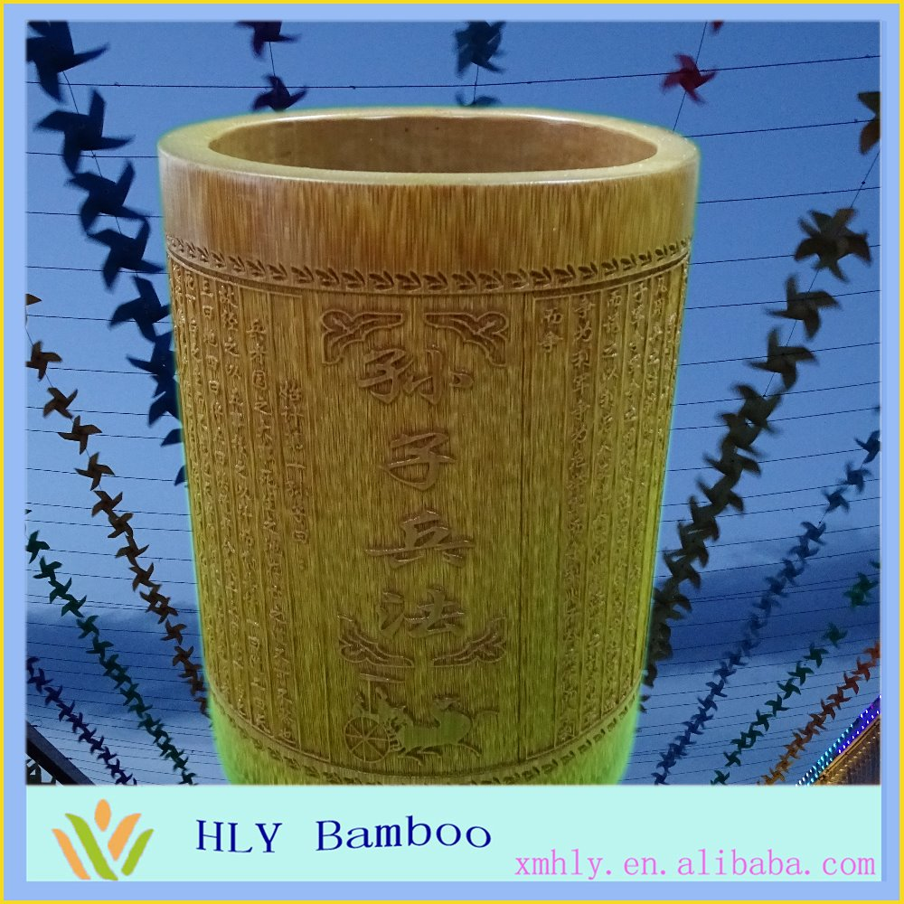 Solid bamboo material wholesale pencil holder