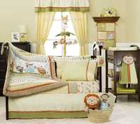 European Style Cotton Crib Baby Bedding Set professional comfortable satin crib bedding