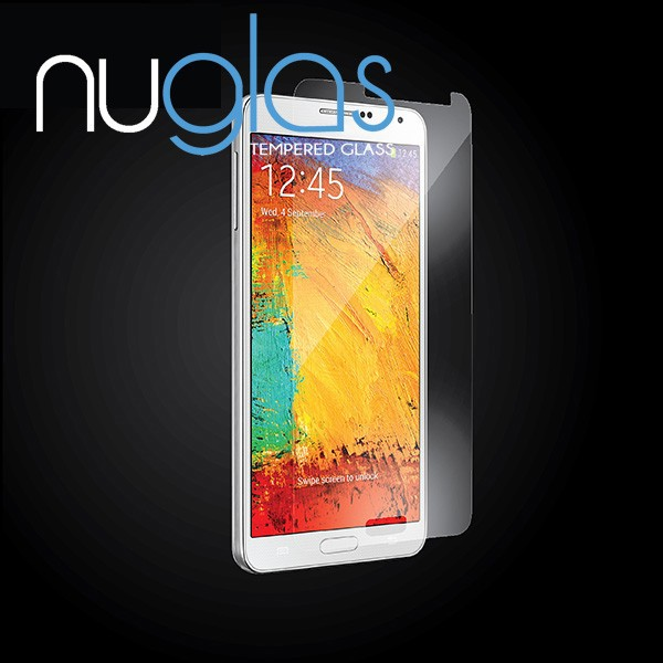 Nuglas Clear Tempered Glass Screen Protector for Samsung Galaxy Note 3 Mobile Phone Accessories