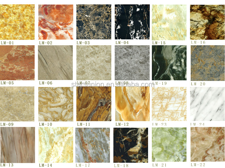 High Glossy SPC PVC Marble Sheet Decorative Wall Panel Tiles