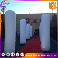 Hot sale LED inflatable ivory/ inflatable pillar/ prism inflatable light tower for decoration