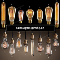 Manufacturers Retro Light ST64 ST58 T30 T45 G80 G95 G125 E26 E27 25w 40w 60w Decorative Glass Vintage Incandescent Edison Bulb