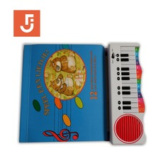 Piano shape Custom Coloring Cardboard Children English Story Books Childrens Books Printing Service
