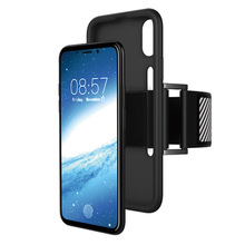 sport running phone case for iphone 8 armband case, adjustable flexible tpu case for iphone x