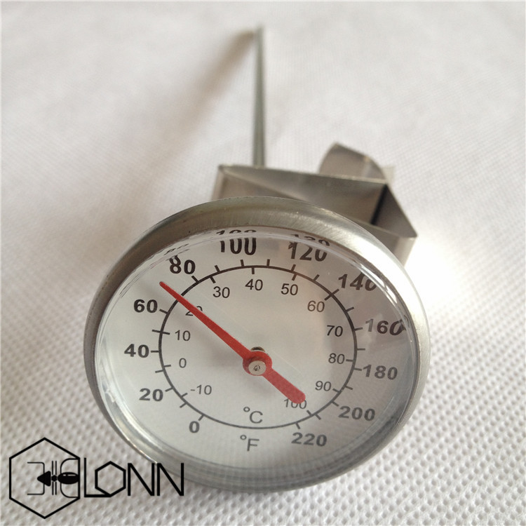 Long Stem Instant Read Stainless Steel Thermometer With Clip
