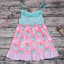New Arrival cupcake patterns dress for teenagers fancy dress competition for kids baby clothes wholesale