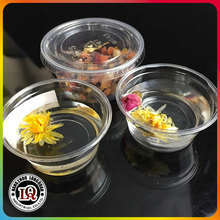 Plastic Resuable Yogurt Cup with Lid Saucer
