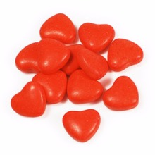 Wholesale delicious customized color fruit flavor heart shaped hard sweet candy