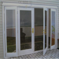 Luxury Reinforcement Upvc Profile Tempered Glass 4 Panels Casement Door