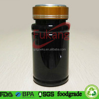 150cc black colored straight round PET plastic pharmaceutical bottle packaging drug / tablets / capusles