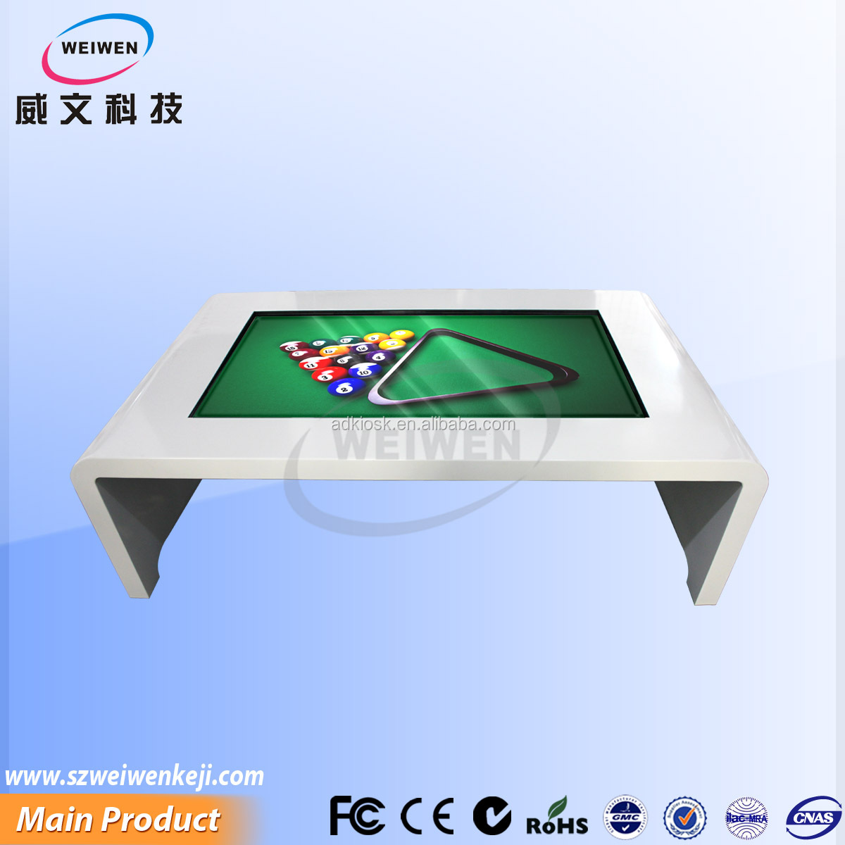 49 inch indoor led touch screen children game table media player table