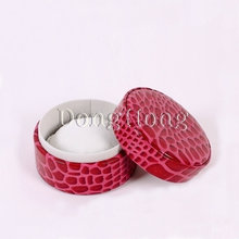 Fashion PU Leather Round Jewelry Gift Box For Sale