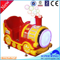 2016 Popular High Quality Kids Paradise Electric Coin Operated Soap Bubbles Mini Train Kiddie Ride Game Machine For Sale