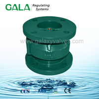 double flange vertical horizontal type globe silent weighted check valve