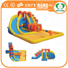 HI amazing price lake inflatables water park small size for kids