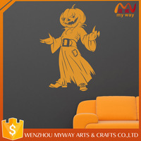 Halloween orange color wall sticker window cling wall cling halloween decoration