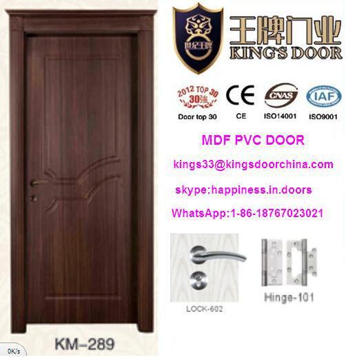 El ltimo turco vidrio interior de madera mdf de la puerta del pvc con el dise o de marco - Lo ultimo en puertas de interior ...