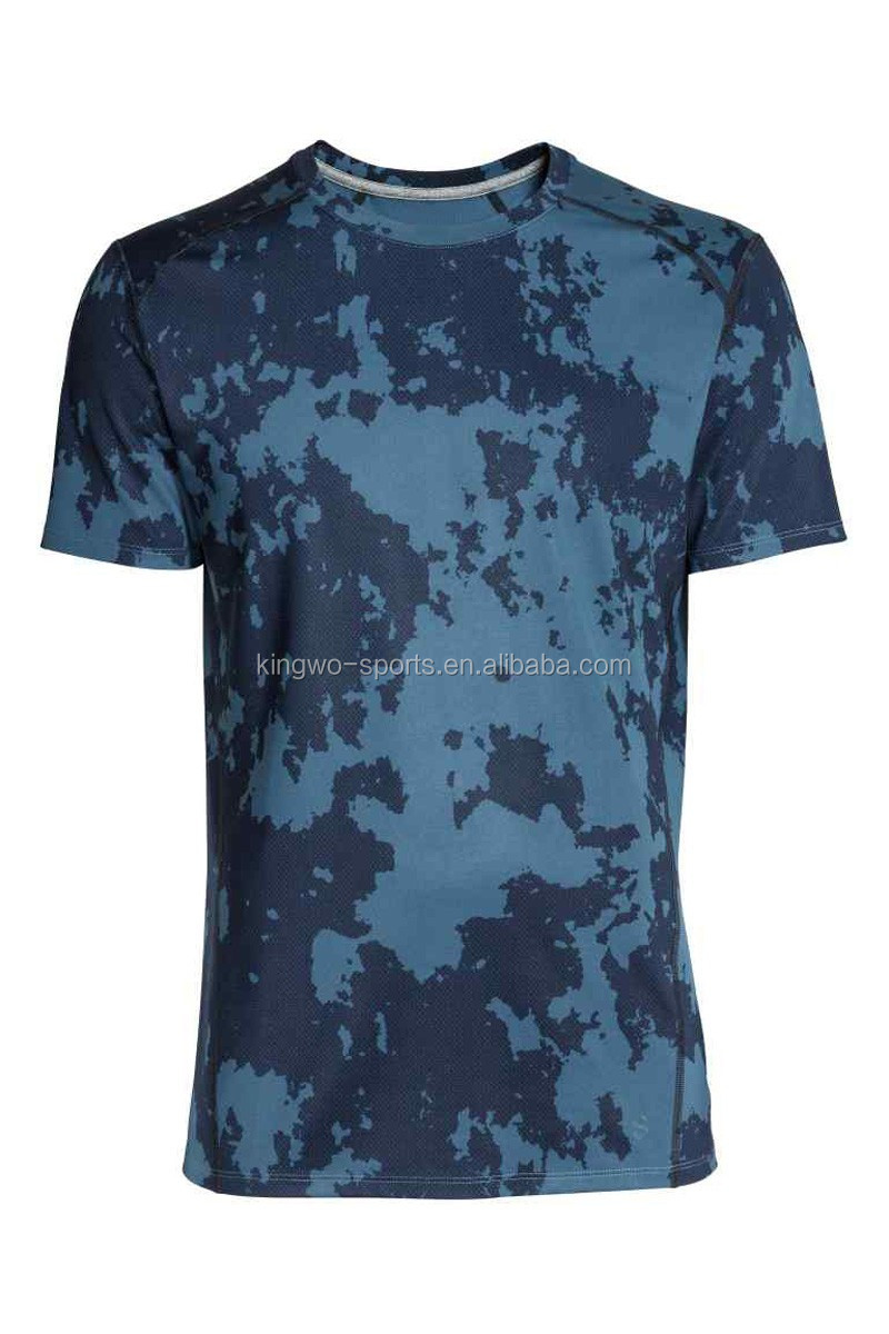 Wholesale custom camo printing mens t shirts breathable for Custom t shirts camouflage