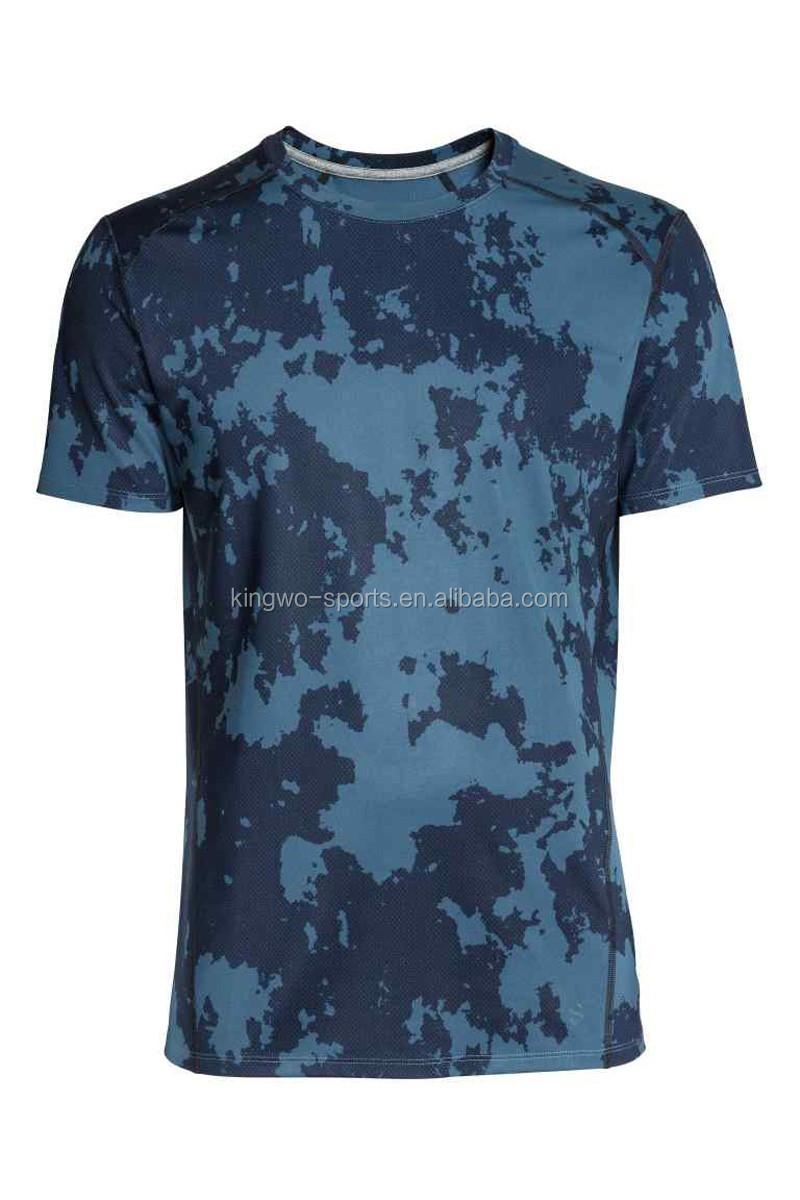 Wholesale Custom Camo Printing Mens T Shirts Breathable