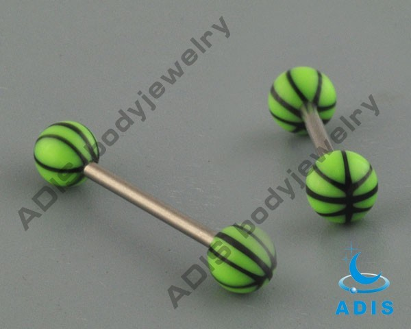 Fashion wholesale acrylic ball cheap tongue barbell body jewelry