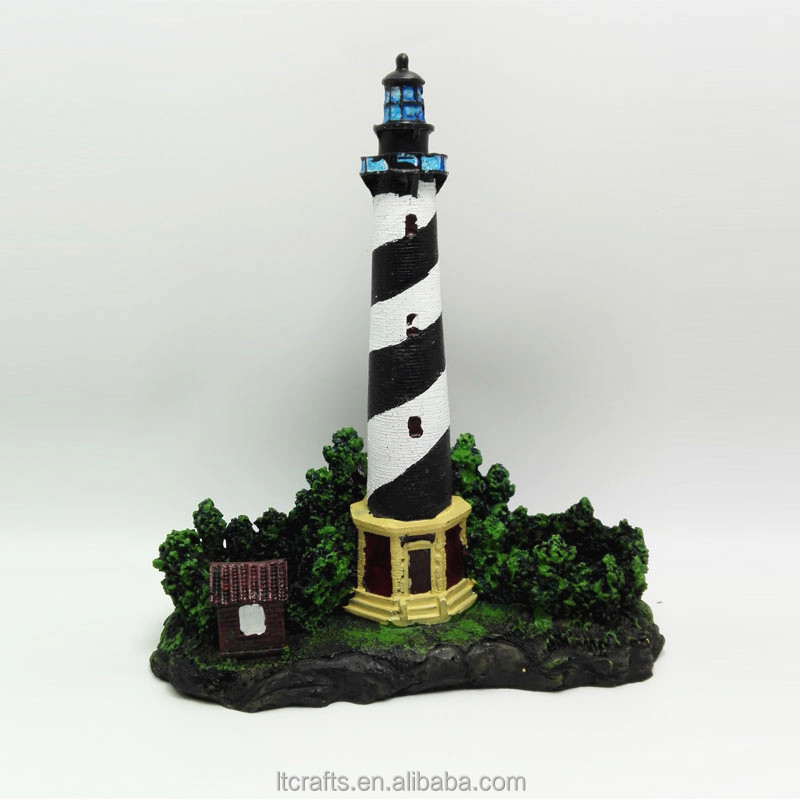Europe Regional Feature and Folk Art Style miniature polyresin lighthouse