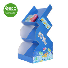 Creative Cardboard Countertop Display Stand For Vc Candy Vc Chewable Tablet Promotion