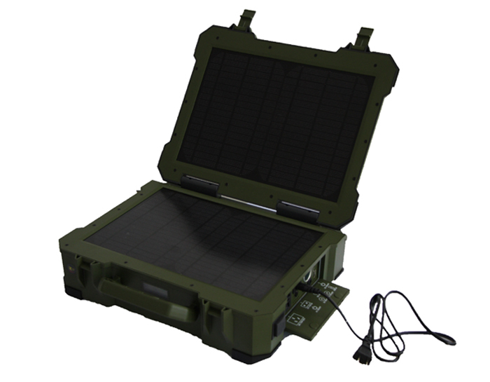 Waterproof suitcase 20w panel solar generator portable for camping