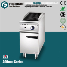 new product 400mm series free standing 304 stainless steel gas lava stone grill with cabinet