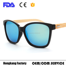 2017 popular Bamboo temple Wooden Sunglasses Wholesale eyewear bamboo lunette